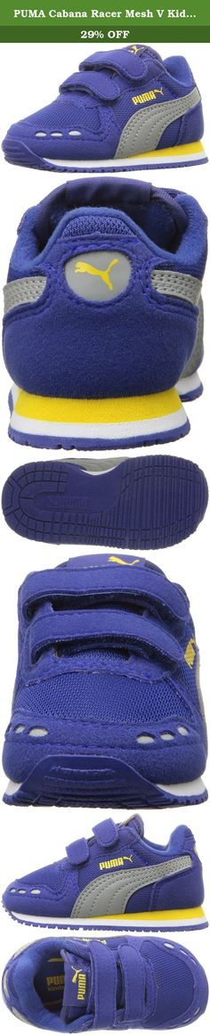 PUMA Cabana Racer Mesh V Kids Sneaker (Toddler/ Little Kid/ Big Kid), Mazarine Blue/ Limestone, 9 M US Toddler. Our favorite among the RS running family, the cabana Racer is back. This old school, lightweight, racing flat was first introduced in 1981 and has become popular again in the archive family. The cabana Racer is a must have shoe for all stylish kids. This addition features nylon mesh with suede overlays.