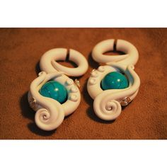 """Detailed Romancing the Stone """"Fakers"""" Faux Gauged Earrings ($32) ❤ liked on Polyvore"""