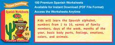 Premium Spanish Worksheets Collection Details