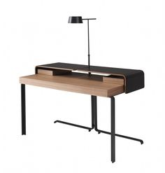 neat idea but lamp not likely to work if used in bedroom. called ligne roset split desk