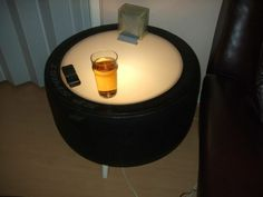 DIY projects – Make interesting furniture out of car tires - Decoration Trends Tire Furniture, Automotive Furniture, Recycled Furniture, Outdoor Furniture, Tyres Recycle, Diy Recycle, Recycled Tires, Tire Table, Tire Craft