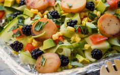 be healthy-page: Zucchini Ribbon and Caramelized Hearts of Palm Sal...