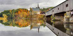 Pretty Autumn Covered Bridge Pictures - Beautiful Bridges - Country Living