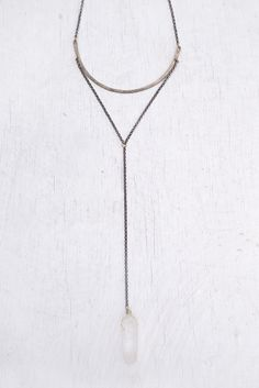 Geometric quartz necklace