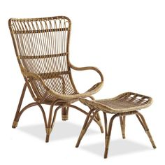 Settle-In Rattan Lounger and Ottoman - VivaTerra - available $700