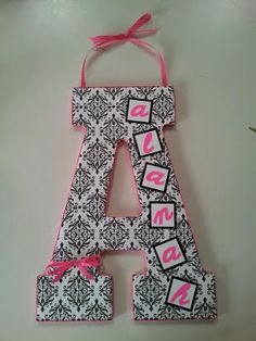 Decorated Craft Letters - Would be great for baby, child or wedded couple.