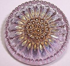 Czech Glass Buttons Light Pink Daisy Flower by RoadsideAttractions, $5.00
