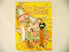 Bride/Wedding paper Dolls Betty Anderson book Retro Free shipping on 10 items