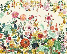 Scopri Papier peint panoramique Jardin -/ Panoramica - 8 strisce, Giardino crema di Domestic disponibile su Made In Design Italia il miglior sito online di design.