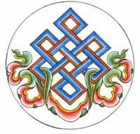 "In Chinese art the endless knot (Chinese: 盤長; pán cháng) is one of the eight auspicious symbols or ""eight treasures"" which were borrowed from Indian Buddhism (which in turn probably borrowed the sy…"