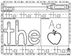 math worksheet : free sight word worksheets for k  kindergarten ideas  pinterest  : Free Kindergarten Sight Word Worksheets