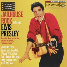 """Rock n Roll music was just beginning and women the world over were going weak at the knees for Elvis Presley. He sang """"Jailhouse Rock. Elvis Presley, Best Party Songs, Young Elvis, Jailhouse Rock, Punk, Def Leppard, Eric Clapton, Popular Music, Motown"""