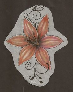 orange lily tattoo