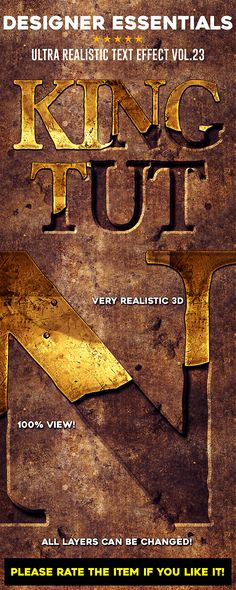 #Designer #Essentials Ultra Realistic Text #Effect Vol.23 - Text Effects Actions