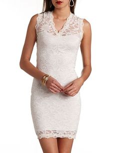 rehearsal dress?  Bodycon Lace Dress: Charlotte Russe