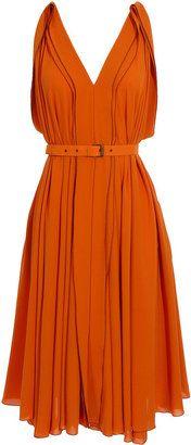Bottega Veneta Belted dress with full skirt