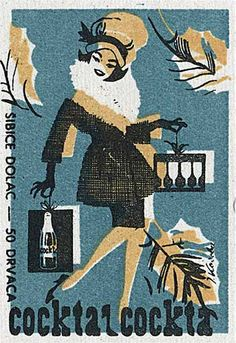 Matchbox label. Yugoslavia. Vintage