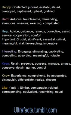 Useful Synonyms 2