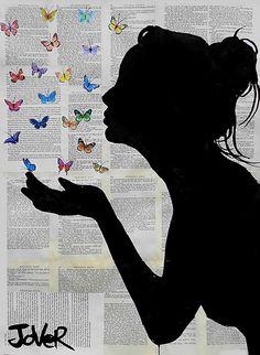 papillon baisers by Loui Jover