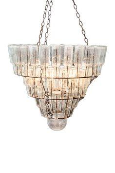 Bottle Chandelier by Rustic Objects & Furniture on @HauteLook