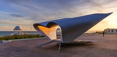 Bexhill - UK Pavilion Architecture, Surfboard, Shelters, My Favorite Things, Places, Image, Band, Beautiful, Sash