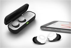 HERE ACTIVE LISTENING SYSTEM  two wireless buds and a smartphone app that control what you hear and how you hear it...