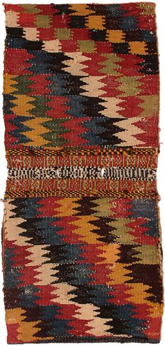* Pile double saddle bag (back), Qashqa'i Confederacy, Qashquli tribe, Southern Persia, Circa 1880