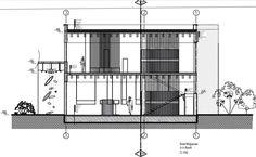 Stüdyo I Saat Mağazası Autocad Çizimleri-  A-A Kesiti