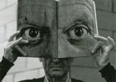 Charles Eames posing with a Mask of Picasso's Eyes, photography by Inge Morath, - Charles Eames posing with a Mask of Picasso's. Charles Eames, Photo Oeil, White Photography, Portrait Photography, Inge Morath, Night Pictures, Pablo Picasso, Illustration, Scene