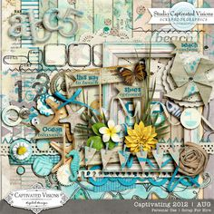 Captivating 2012: AUG [Digital Scrapbook Kit] by Captivated Visions $7.49