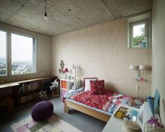 Bedroom design with simple bookcase under the window pink orange sidetable with mini pink cap table lamp single bed furniture number theme carpet purple back less seating twin designs wall lamps white studying desk Precious Book, Kids Bedroom, Kids Rooms, Bed Furniture, Kid Spaces, Children's Place, Wall Design, Bookcase, Home And Family