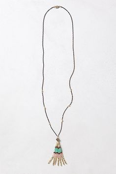 Beaded Tassel Necklace #anthropologie