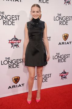 Britt Robertson Makes a Black Dress Pop