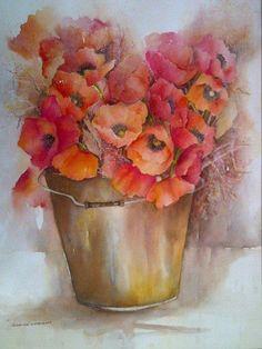 Gift of Poppies - Glenda Chambers (watercolour)