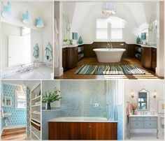 10 Fresh Ideas to Decorate a Bathroom with Blue