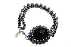 Paul Smith Black Stone Bracelet http://www.youngideasfashion.com/store/product/9414/Paul-Smith-Black-Stone-Bracelet/# we love! #youngideas