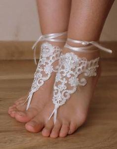 pies con encaje | decoración en los pies con encaje