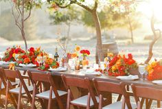 Table Decor ~ Delightfully charged with color! Photography by christinefarah.com, Floral Design by moderndaydesign.com