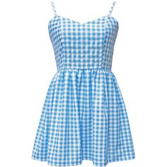Gingham strappy sweetheart smock sundress,cami dress, babydoll dress,... (€29) ❤ liked on Polyvore featuring dresses, vestidos, blue sundress, blue vintage dress, blue fit and flare dress, blue fit-and-flare dresses and sun dresses