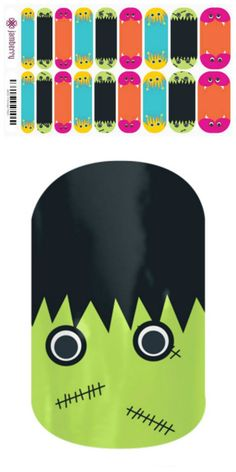Jamberry Nail Wraps 'Monster Mash' https://jleadbetter.jamberrynails.net
