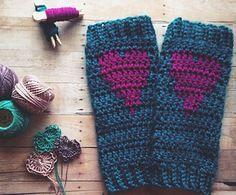 """*Free Crochet Pattern:  """"Put A Little Love in Your Heart"""" Leg Warmers"""