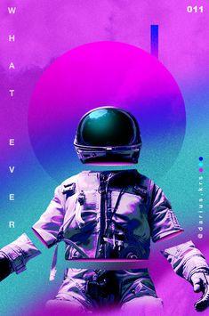 """""""Astronaut"""" Grafik/Illustration von Darius Krause jetzt als Poster, Kunstdruck oder Grußkarte kaufen.. Astronaut Illustration, Space Illustration, Graphic Design Posters, Graphic Design Inspiration, Magdiel Lopez, Photoshop, Bloodborne Art, Vaporwave Art, Glitch Art"""
