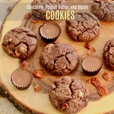 Step outside-the-box and give Chocolate, Peanut Butter, and Bacon Cookies a try.  Nothing not to like here!  #MyAllrecipes #AllrecipesAllstars #AllrecipesFaceless  #AllstarMarchMadness
