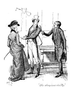 Scene From Pride And Prejudice By Jane Austen Drawing by Hugh Thomson