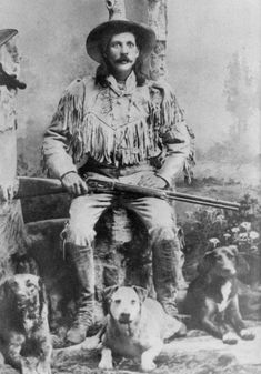 """Title: Charles """"Buckskin Charley"""" Marble Date: ca 1890s Location: Bozeman, Montana Photographer: Unknown Photographer Description: Charles """"Buckskin Charley"""" Marble (1864-1943), buffalo hunter, guide. He worked for Richard """"Rocky Mountain Dick"""" Rock and Victor """"Vic"""" Smith at their hunting and guide ranch near Yellowstone. Later he had a taxidermy shop on Main St. in Bozeman. Vintage 4.5x6.5 print. Format: image/jpeg Source: Museum of the Rockies Photo Archive Rights: Copyright restr..."""