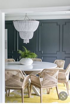 Casual Dining Rooms, Luxury Dining Room, Dining Room Design, Luxury Homes Interior, Luxury Home Decor, Luxury Interior Design, Interior Detailing, Coastal Interior, Murs Roses