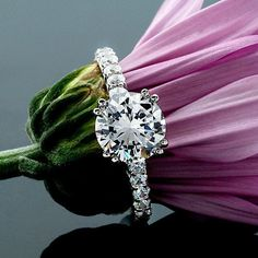 1.15 CT ROUND CUT DIAMOND HALO ENGAGEMENT RING 14K WHITE GOLD #DiamondExpo #SolitairewithAccents