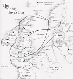 On both sides of my family my heritage traces back to Viking ancestors . This is a neat Viking invasion map. Unfortunately Waterford, the oldest of all Hiberno-Norse settlements, seems to be missing. European History, British History, World History, Ancient History, Family History, Uk History, Ancient Aliens, History Facts, American History