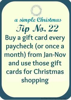 smart idea for saving money on christmas gifts, and not having to spend all your. - Finance tips, saving money, budgeting planner Simple Christmas, Christmas Time, Christmas Gifts, Christmas Budget, Christmas Ideas, Holiday Gifts, Christmas Traditions, Merry Christmas, Christmas Things