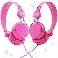 pink headphones!